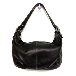 Danier Leather Black Hobo Genuine Leather Bag